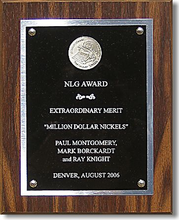 Million Dollar Nickels NLG award